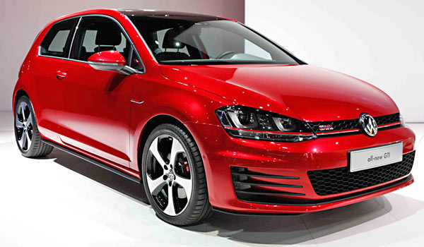 VW GOLF GTI red sports