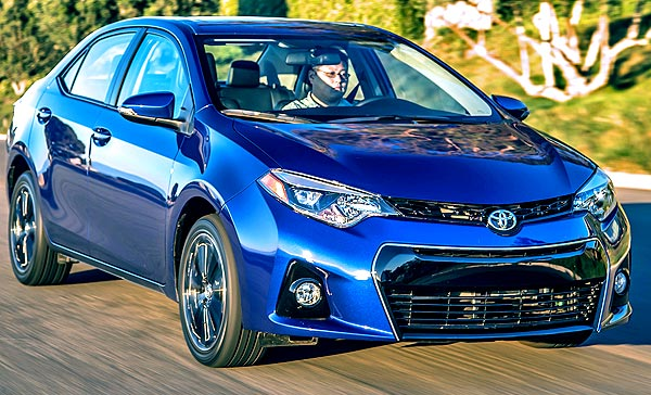 blue corolla 2015 S premium in motion