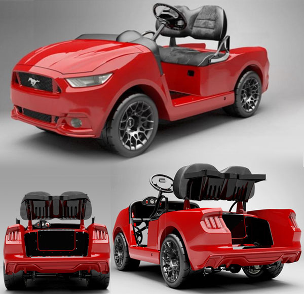 Ford Mustang Golf Cart pictures