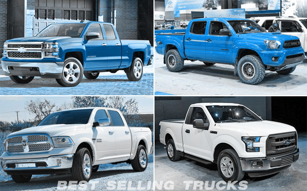 top 5 best selling pickup trucks usa