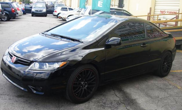 <strong>2007 HONDA CIVIC EX - Asking Price: $6,900</strong> — Incredibly, this Civic 1.8L, black color, coupe, with automatic transmission and black sports alloy wheels, has only <span class='u'>55k miles</span>, virtually it has more than 70% of remaining life and could be yours for less than $7000. If you are interested on this black Civic EX 2007, it is for sale in <span class='u'>Hialeah Gardens, Forida</span> by AmeriFirst Auto Center dealership and you can contact them at 888-254-9881 .