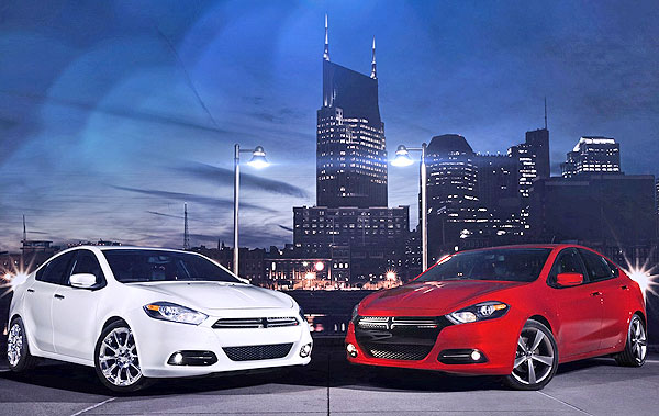 White and Red New Dodge Dart