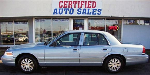 <strong>Cheapest Ford Crown Victoria 2004 for sale.</strong> This is the most affordable Crown Victoria '04 you can find at the moment of publishing this article. It has <span class='u'>137k miles</span> and is offered in <strong>Des Moines, Iowa</strong> by Certified Auto Sales car dealer. <strong>Price asking: </strong> <span class='u'>$3,995</span>. If you are interested, please give them a phone call at <span class='u'>866-893-5983</span> for more information.