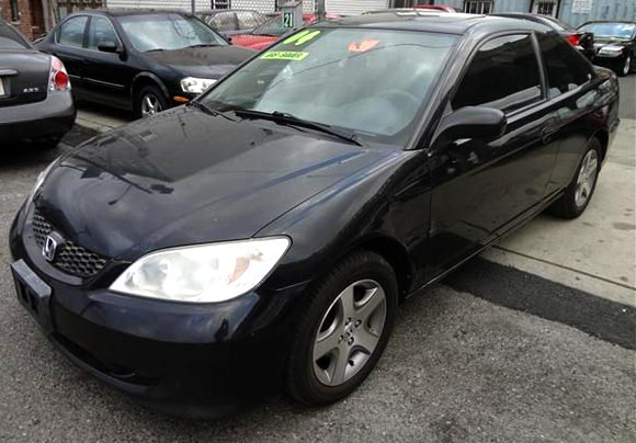 <strong>Cheapest Honda Civic 2004 for sale.</strong> This black one is the most affordable Civic '04 you can find at the moment of publishing this article. It has <span class='u'>189k miles</span>, looks great and is offered in <strong>Jersey City, New Jersey</strong> by Car Depot Auto Sales. <strong>Price asking: </strong> <span class='u'>$3,295</span>. If you are interested, please give them a phone call at <span class='u'>866-416-3307</span> for more information.