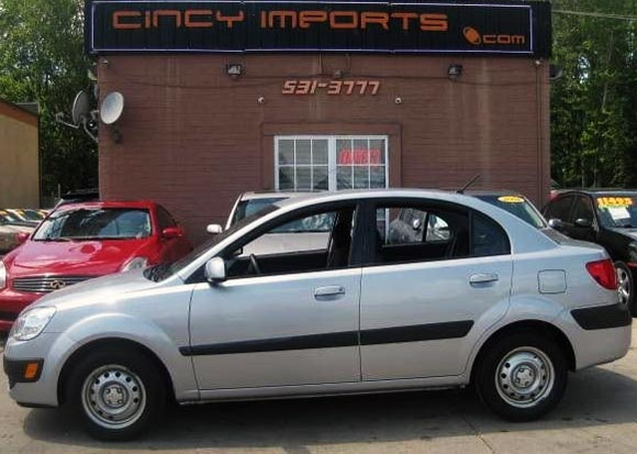 <strong>Cheapest Kia Rio 2008  for sale.</strong> This is the most affordable Rio '08 you can find at this moment. It has <span class='u'>104k miles</span> and is offered in <strong>Loveland, Ohio</strong> by Cincy Imports car dealer. <strong>Price asking: </strong> <span class='u'>$5,495</span>. If you are interested, please give them a phone call at <span class='u'>888-296-8812</span> for more information.