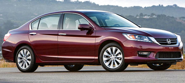 Top 10 best family cars of 2013 pictures prices for Burgundy honda accord