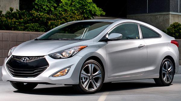 2013 Hyundai Elantra Coupe Silver Front View