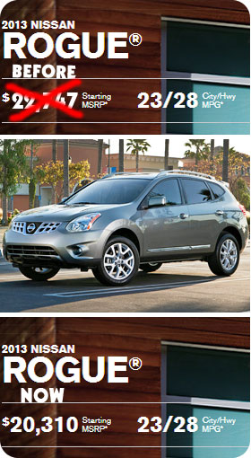Nissan has the most competitive prices at this moment for those interested in buying a new car