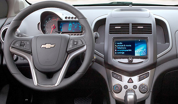 orange 2013 chevrolet sonic Interior - dashboard
