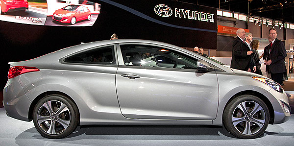 New Hyundai Elantra Coupe Dark Gray Side View