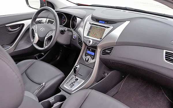 Interior, Seats, Dashboard, Cab: Hyundai Elantra Coupe 2013