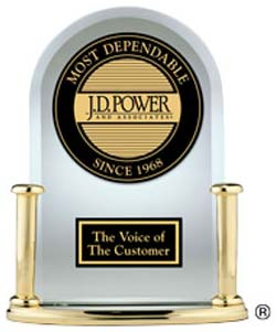 Most Dependable Cars Award from J.D. Power And Associates - The Voice of The Customer.