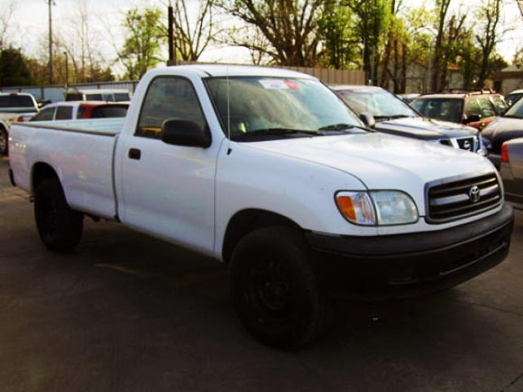 <strong>Cheapest Toyota Tundra 2002 for sale.</strong> This is the most affordable Tundra '02 you can find at the moment of publishing this article. It has <span class='u'>247k miles</span> and is offered in <strong>Oklahoma City, Oklahoma</strong> by A & G Auto Inc. car dealer. <strong>Price asking: </strong> <span class='u'>$4,995</span>. If you are interested, please give them a phone call at <span class='u'>888-699-2092</span> for more information.