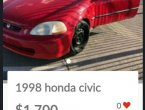 1999 Honda Civic under $2000 in Nevada