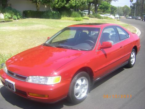 used RED 1997 Honda Accord coupe