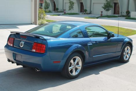 Photo #3: sports coupe: 2007 Ford Mustang (Blue)