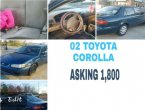 2002 Toyota Corolla under $2000 in Tennessee