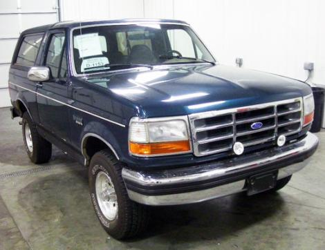 Photo #1: SUV: 1993 Ford Bronco (Green)
