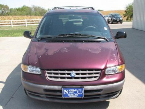 A B on 1998 Plymouth Grand Voyager Purple