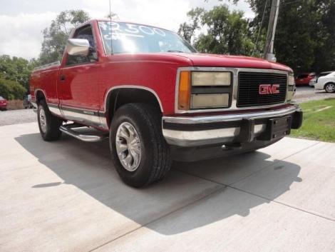 cheap pickup truck in tn under 3000 gmc sierra 1500 sle 39 93 red. Black Bedroom Furniture Sets. Home Design Ideas