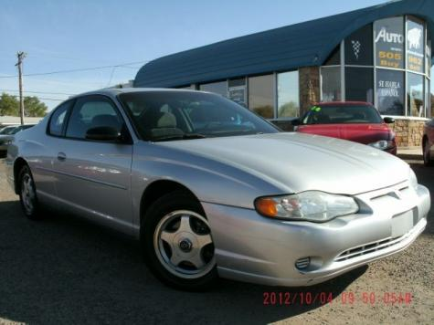 used 2004 chevrolet monte carlo sports coupe under 5000 in nm. Black Bedroom Furniture Sets. Home Design Ideas