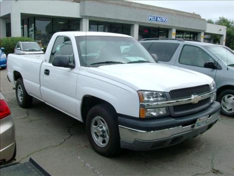 Photo #1: truck: 2003 Chevrolet Silverado (White)