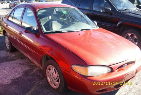 Photo #1: sedan: 1998 Ford Escort (Red)