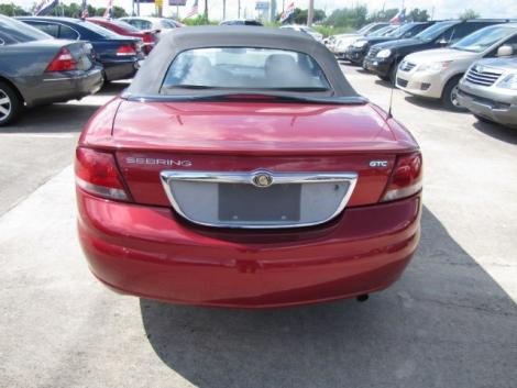 Photo #3: convertible: 2006 Chrysler Sebring (Inferno Red)