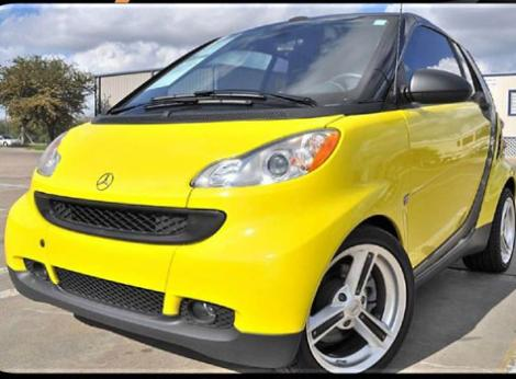 Photo #1: convertible: 2009 Smart ForTwo (Yellow)