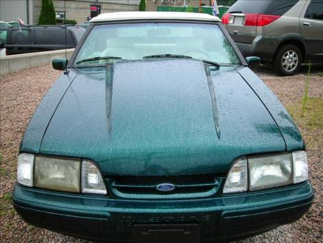Photo #2: convertible: 1990 Ford Mustang (Emerald green / white)