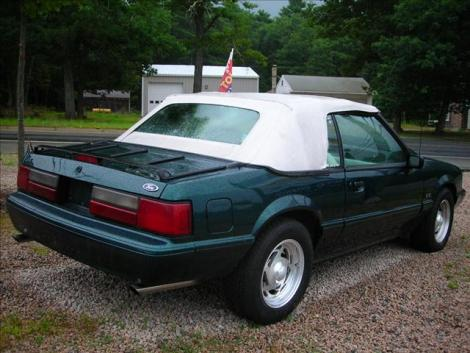 Photo #4: convertible: 1990 Ford Mustang (Emerald green / white)
