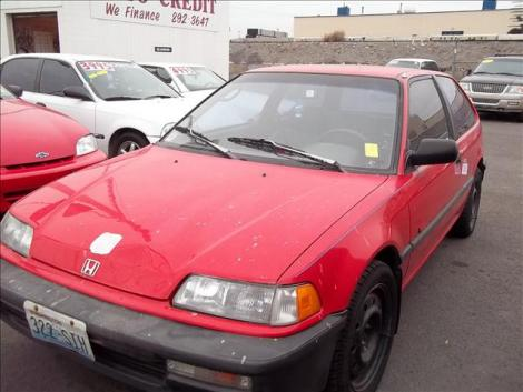 1991 Honda Civic Si Coupe Under $2000 in Spokane, WA (Red ...