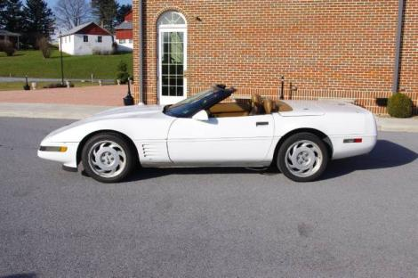 Photo #2: convertible: 1991 Chevrolet Corvette (White)