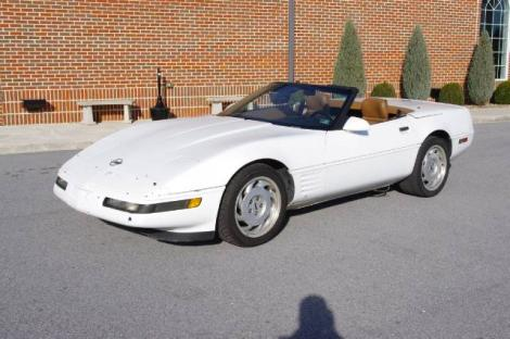 Photo #1: convertible: 1991 Chevrolet Corvette (White)
