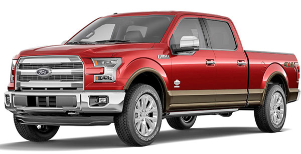 F-150 2015 double cab red color