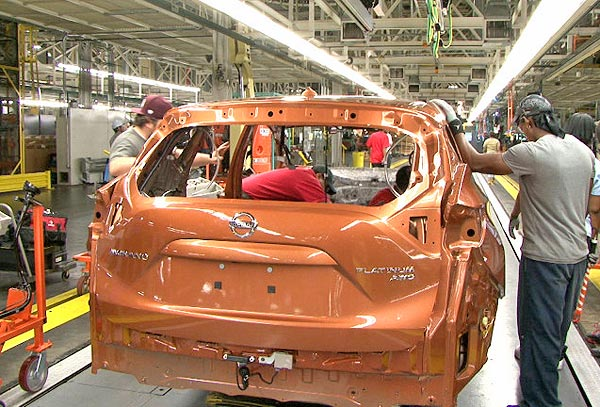 murano manufacturing nissan plant canton MS