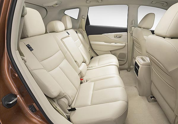 rear seats beige color leather